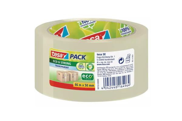TESA Tesapack eco&strong 50mmx66m 581560000 grün, Recycling