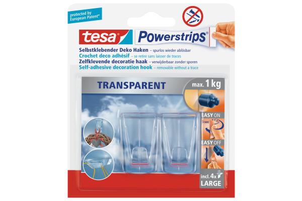 TESA Powerstrips Deco XL 588130000 transparent 2 Haken