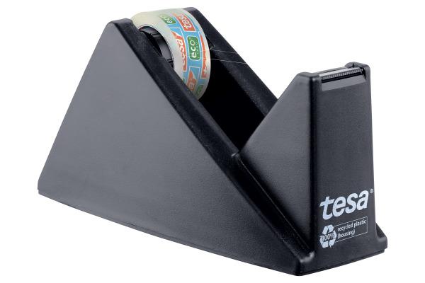 TESA Tischabroller Pack ecoLogo 593270000 schwarz, 1 Rl. eco&clear
