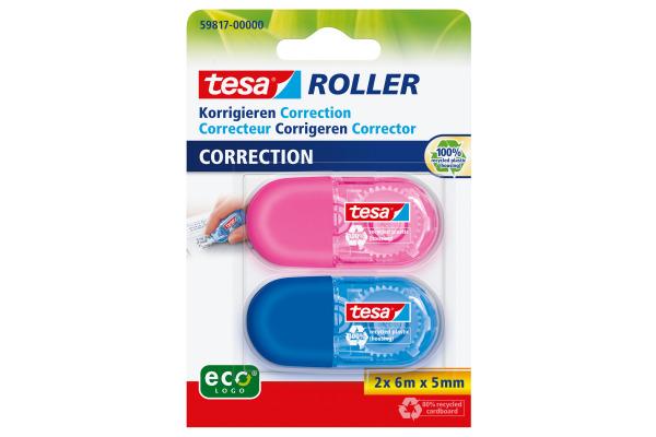 TESA Korrekturroller Mini 5mmx6m 598170000 2 Farben ass.