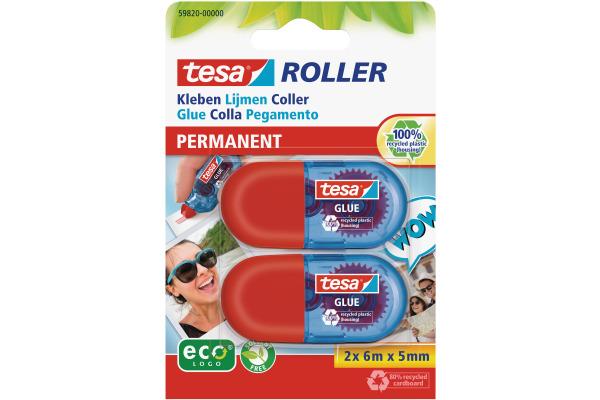 TESA Mini Kleberoller 6mx5mm 598200000 ecoLogo perm. Blister