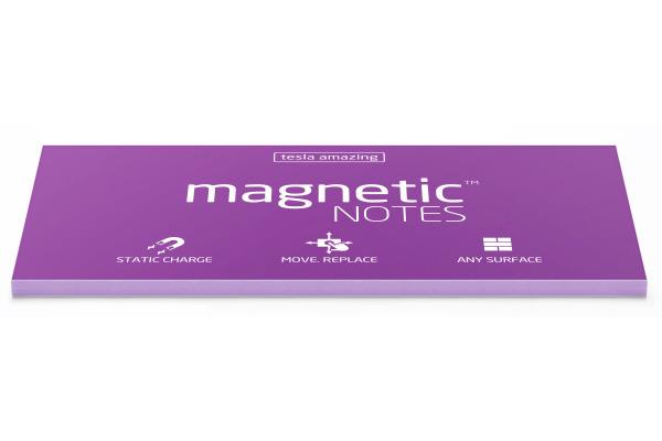TESLA AM. Magnetic Notes L 200x100mm 023 violet 100 Blatt