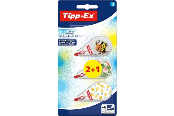 TIPP-EX Mini Pocket Mouse 8516807 Decors, assortiert 3...
