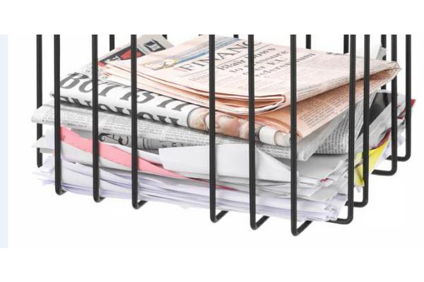 TMP Papiersammler Zeitungsbinder 1111.02 schwarz 37x27x37cm