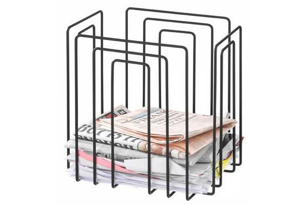 TMP Papiersammler/Zeitungsbinder 1111.02 schwarz 37x27x37cm