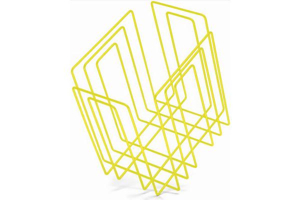 TMP Papiersammler/Zeitungsbinder 1111.21 neon-gelb 37x27x37cm