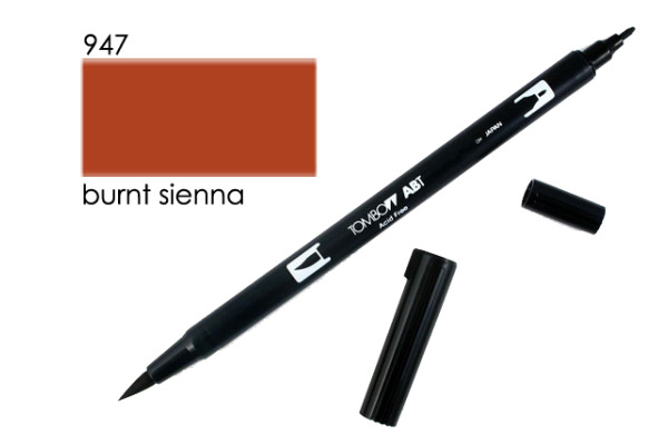 TOMBOW Dual Brush Pen ABT 947 burnt sienna