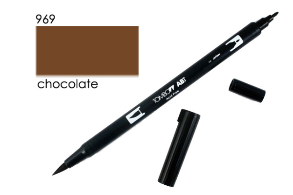 TOMBOW Dual Brush Pen ABT 969 chocolate