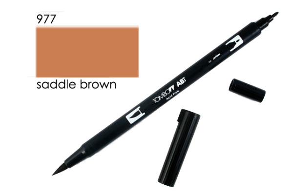 TOMBOW Dual Brush Pen ABT 977 saddle brown