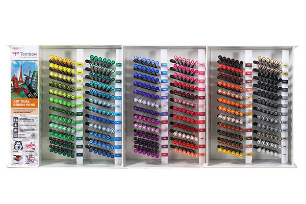 TOMBOW Fasermaler ABT Brush Pen ABT72CSET Display 72 Farben à 6 Stk.