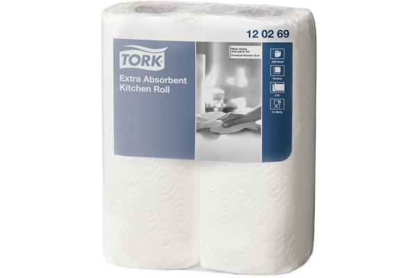 TORK Küchenrolle 120269 weiss, 2-lagig 2 Stück