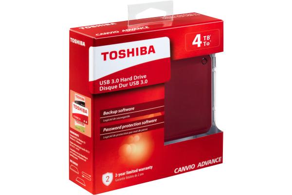 TOSHIBA CANVIO Advance 4TB HDTC940ER USB 3.0 2.5 inch red