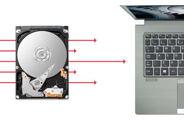 TOSHIBA Slim Laptop PC HDD L200 1TB HDWL110EZSTA internal, SATA 2.5 inch