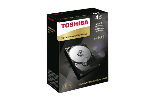 TOSHIBA HDD N300 High Reliability 4TB HDWQ140EZ internal, SATA 3.5 inch