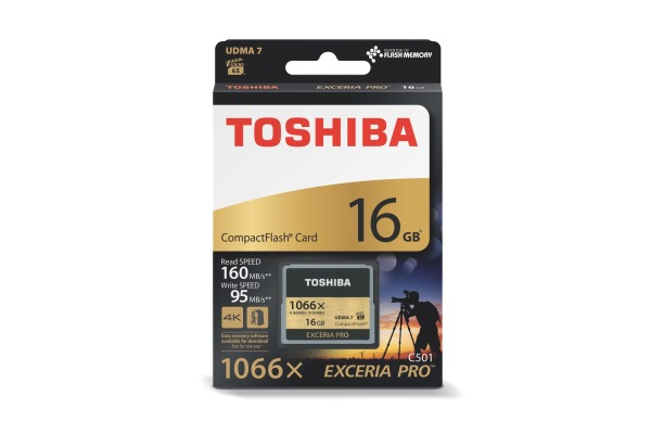 TOSHIBA COMPACT FLASH Exceria 16GB THN-C501G PRO C501 W150 / 160 gold