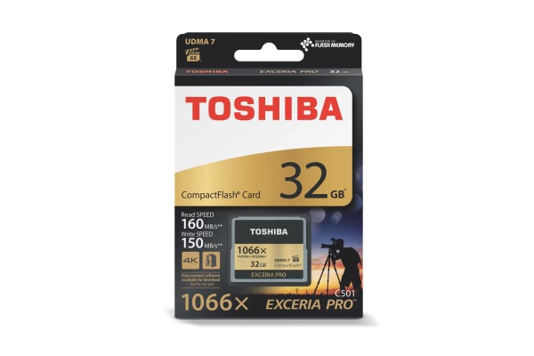 TOSHIBA COMPACT FLASH Exceria 32GB THN-C501G PRO C501 W150 / 160 gold