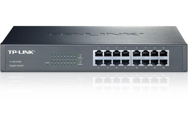 TP-LINK 16-Port-Gigabit-Switch TLSG1016D 10/100/1000 Mbit/s