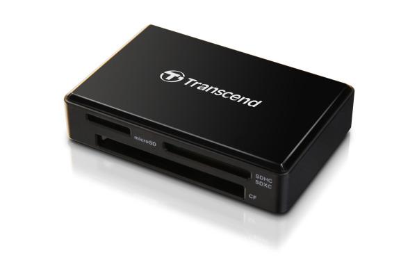 TRANSCEND CardReader F8 USB 3.1 Gen 1 TS-RDF8K2 black, SD/microSD/CF