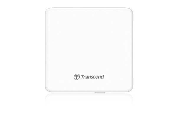 TRANSCEND Portable CD/DVD Writer 8x TS8XDVDSW SuperSlim USB 2.0 white