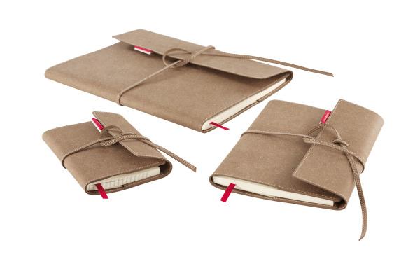 TRANSOTYP senseBook FLAP A5 75010500 blanko, M, 135 Seiten beige