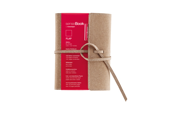 TRANSOTYP senseBook FLAP A6 75010600 blanko, S, 135 Seiten beige