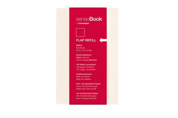 TRANSOTYP senseBook FLAP REFILL A6 75510600 blanko, S, 135 Seiten beige