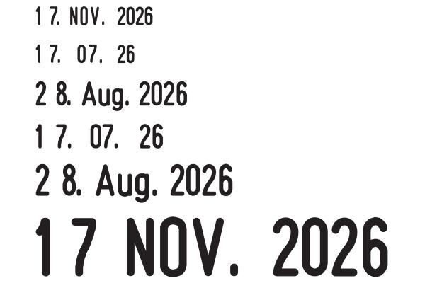 TRODAT Datumstempel D 1000D 18×3mm