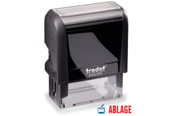 TRODAT Stempel Ablage 4912ABLAGE blau rot 47x18mm