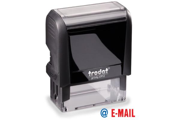 TRODAT Stempel E-Mail 4912EMAIL blau rot 47x18mm