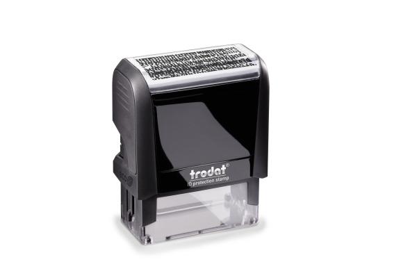 TRODAT Stempel Datenschutz 4912SECURE schwarz 47x18mm