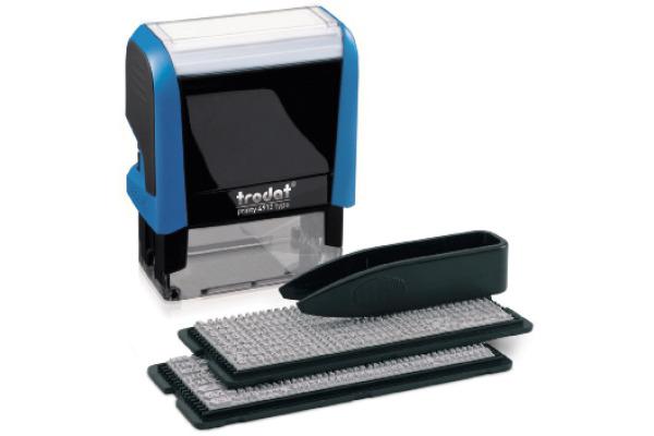 TRODAT Stempel Typomatic 4912TYPO blau schwarz 3mm