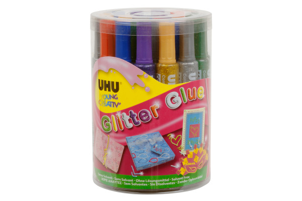 UHU Glitter Glue Dose 76 24 Stück
