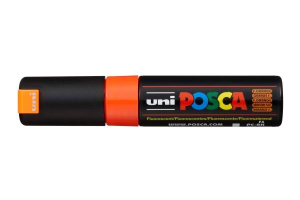 UNI-BALL Posca Marker 8mm PC8K F.ORANG fluo orange,...