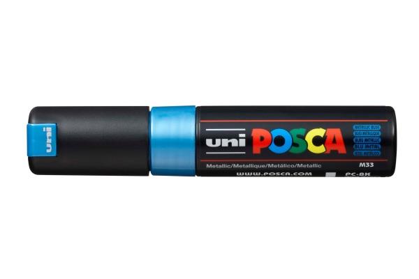 UNI-BALL Posca Marker 8mm PC8KMET.BLUE MET Metal.blau,...