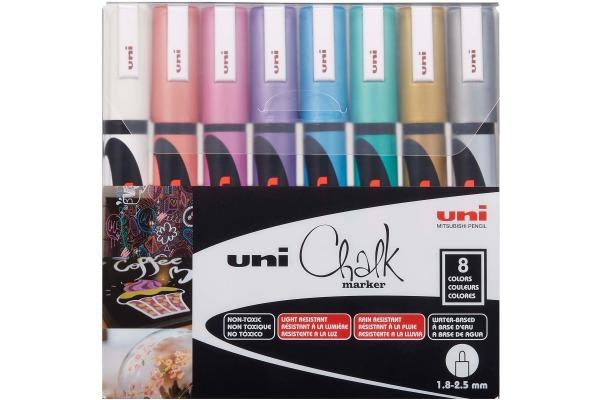 UNI-BALL Chalk Marker 1.8-2.5mm PWE-5M METALLIC 8C 8...