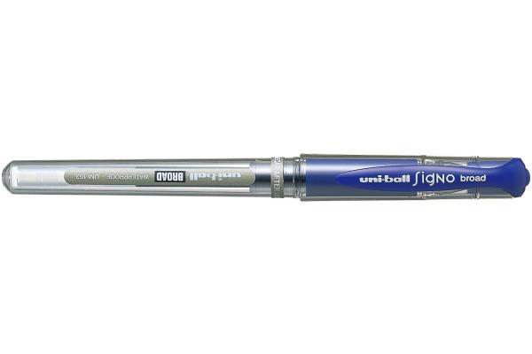 UNI-BALL Signo Broad 1mm UM-153 BLUE blau