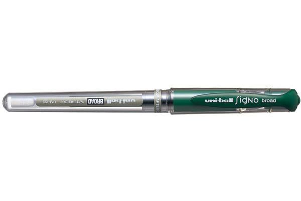 UNI-BALL Signo Broad 1mm UM-153 GREEN grün