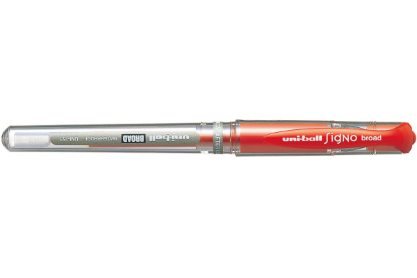 UNI-BALL Signo Broad 1mm UM-153 RED rot