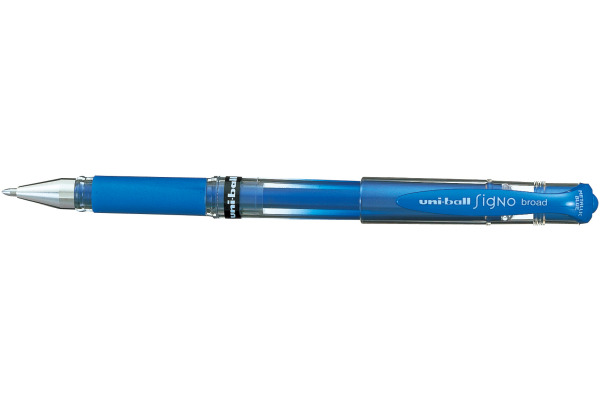 UNI-BALL Signo Broad 1mm UM153MET.BLU blau-metallic