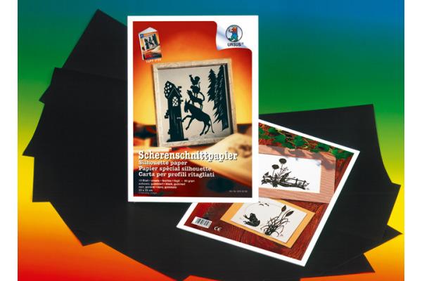 URSUS Scherenschnittpapier 35x50cm 1703290 80g, schwarz