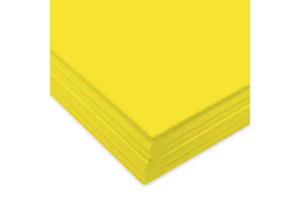 URSUS Tonzeichenpapier A4 2174612 130g, citronengelb 100 Blatt