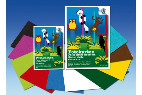 URSUS Fotokarton A3 3814099 300g, 10 Farben ass. 10 Blatt
