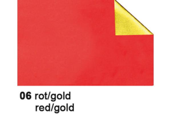URSUS Bastelfolie Alu 50x80cm 4442106 90g, rot/gold