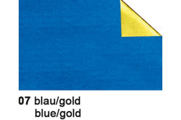 URSUS Bastelfolie Alu 50x80cm 4442107 90g, blau/gold