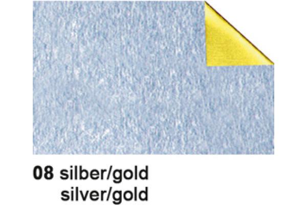 URSUS Bastelfolie Alu 50x80cm 4442108 90g, silber/gold