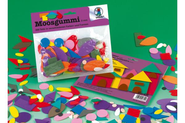 URSUS Moosgummi Formen 2mm 8380099 diverse farben 200...