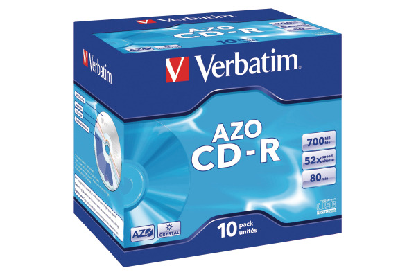 VERBATIM CD-R Jewel 80MIN/700MB 43327 52x crystal 10 Pcs