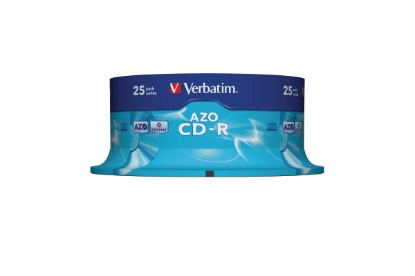 VERBATIM CD-R Spindle 80MIN/700MB 43352 52x crystal 25 Pcs