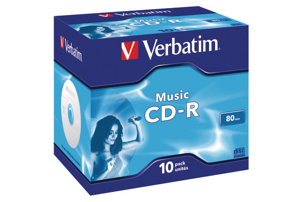 VERBATIM CD-R Jewel 80MIN/700MB 43365 52x Audio 10 Pcs