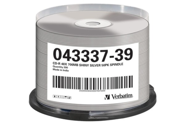VERBATIM CD-R Spindle 80MIN/700MB 43582 52x Thermo silver 50 Pcs